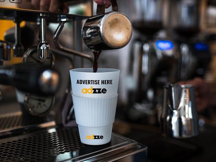Advertising on Coffee Sleeve