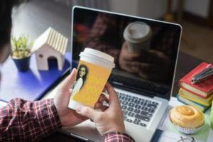 Advertising on Coffee Sleeves
