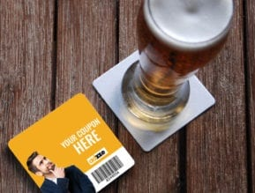 Bar Coaster Advertising