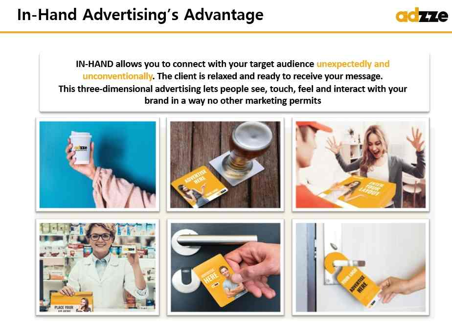 In-the-Hand Advertising