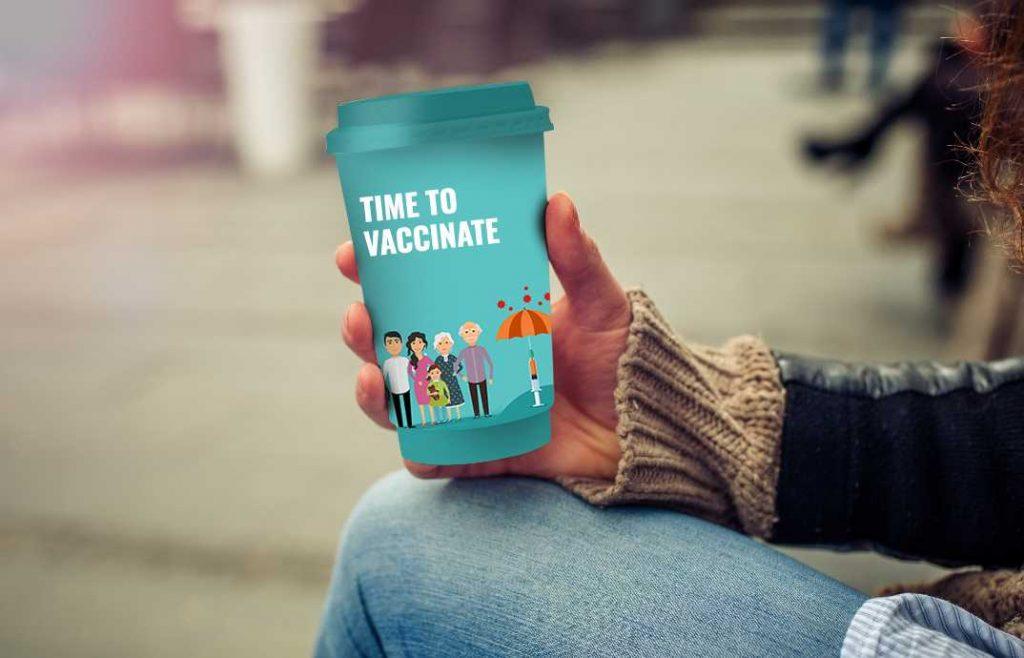 Advertising Coffee Cups - Coffee Sleeve Vaccine