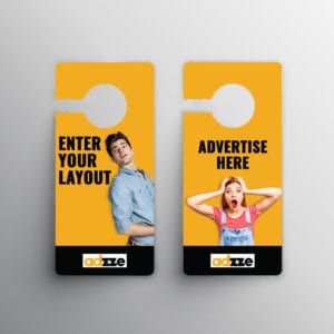 door hanging flyers