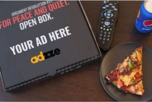 Pizza Box Advertising