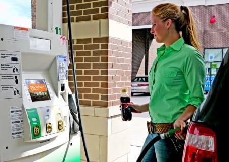 Gas pump advertising