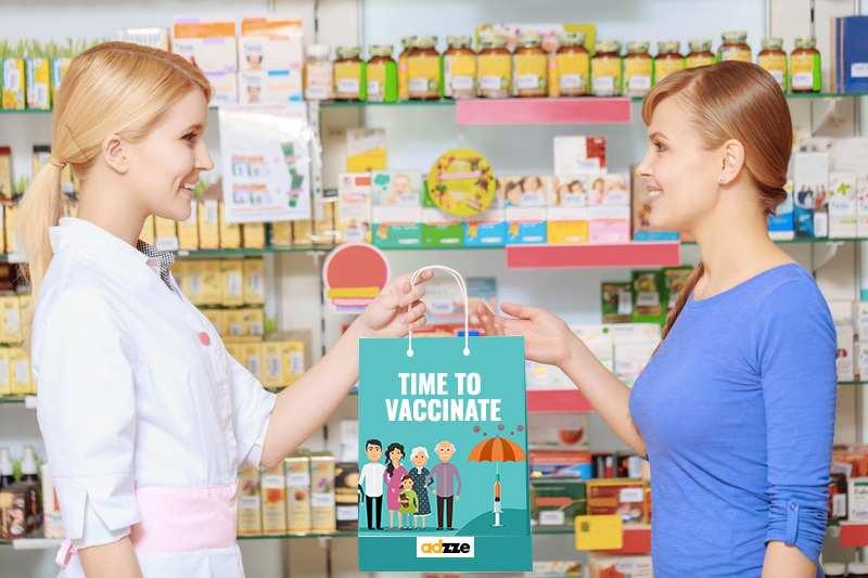 Pharmacy Bag Advertising at Kroger stores