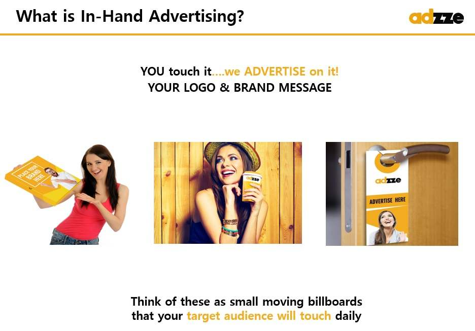 What is In-Hand advertising