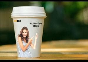 coffee sleeves advertising