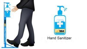 Hand sanitizer Stand advertising