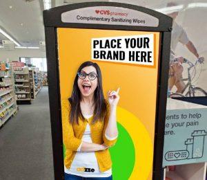 Sanitizer Dispenser Advertising CVS Stores