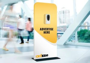 Indoor Advertising with Sanitizing Stations
