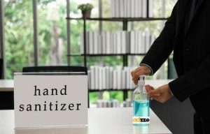 consumers-using-Customized-hand-sanitizer