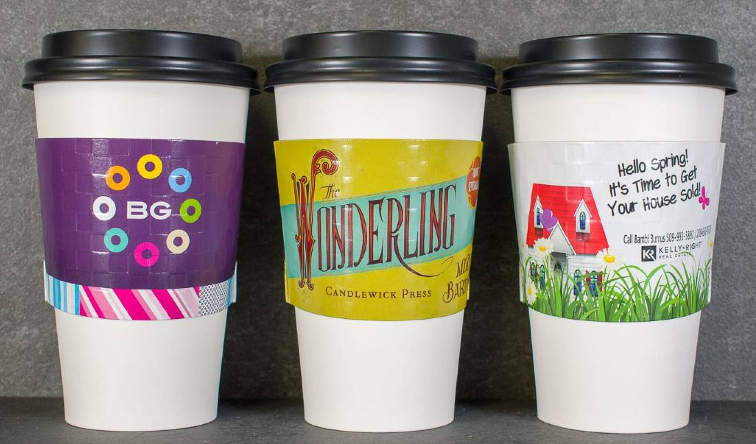 coffee cup sleeve advertising