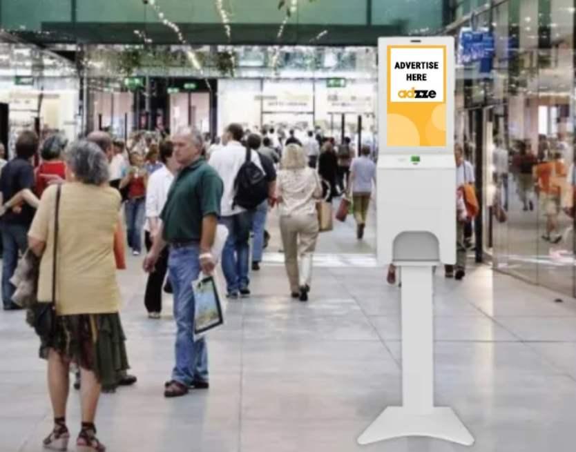 Hand Sanitizer Dispenser Advertising
