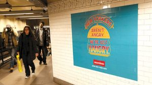 replacing subway billboards