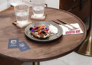 Tabletop advertisement