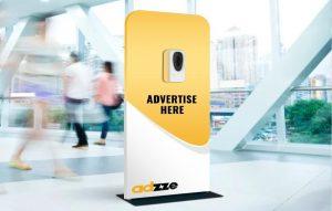 sanitizer kiosks advertising