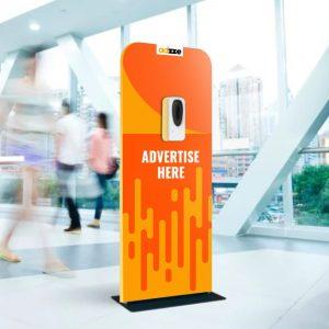 Sanitizing Stations AD VS Car wrap advertising